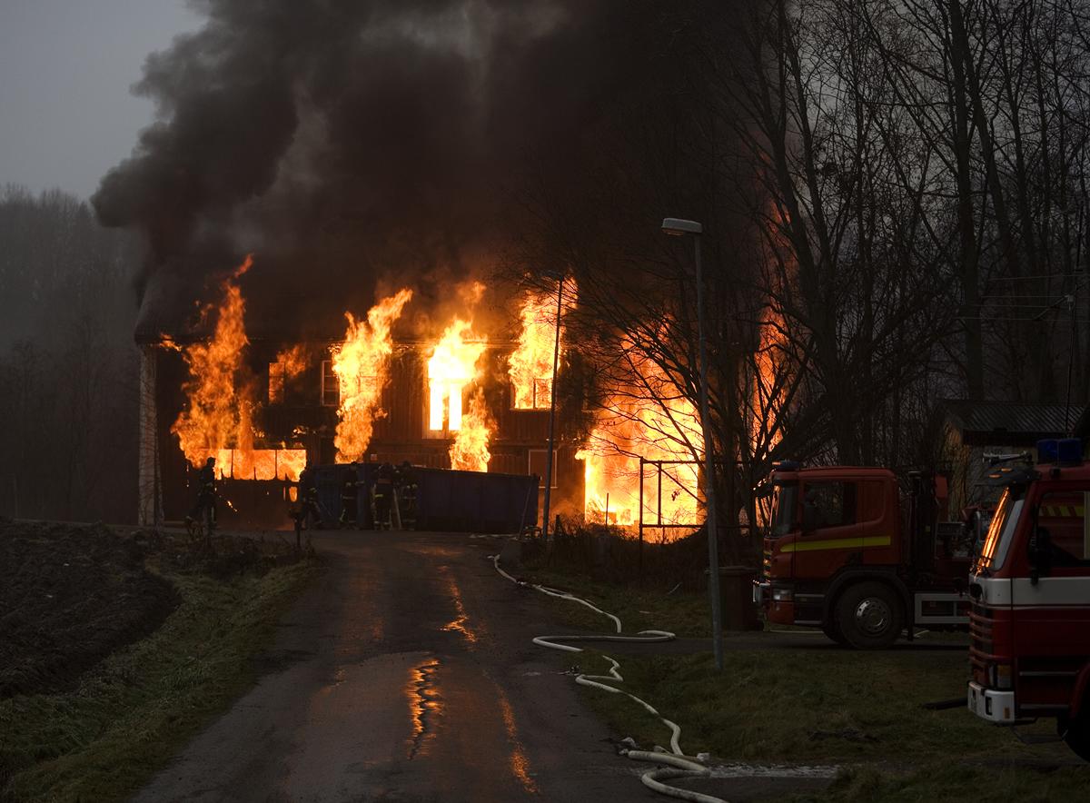 Fire damaged property
